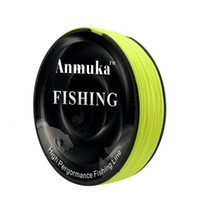 Wholesale strong fishing wire - 100M PE Braided Fishing Line Strong Pulling Force Fish Wire Multifilament Sea Principal Lines Green Yellow 6 8gf WW