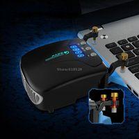 usb vakuumkühlerlüfter großhandel-5V USB Powered Laptop Cooler Vakuum Lüfter Kühlung für Notebook 14 15.6 17 mit Auto-Temp Erkennung Display Einzigartige Clamp Design