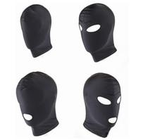 erwachsene sexmasken großhandel-Neue Ankunft Erwachsene Spiele Fetisch Hood Maske BDSM Bondage Schwarz Spandex Maske Sexspielzeug Für Paare 4 Spezifikationen Zu Wählen