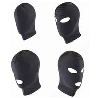 ingrosso bdsm nuovo-Nuovo arrivo Giochi per adulti Fetish Hood Mask BDSM Bondage Black Spandex Mask Sex Toys For Couples 4 Specifiche da scegliere