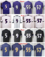 Wholesale Lewis Black - 5 Joe Flacco Jersey 9 Justin Tucker 55 Terrell Suggs 57 CJ Mosley 52 Ray Lewis Legend Elite Stitched Jerseys College Wholesale