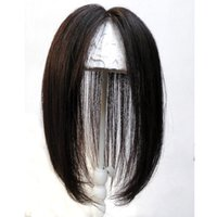 Wholesale women toupee resale online - Top Lace Closures for Women with Three Clips Silk Straight Human Hair x10cm Lace Lady Toupee Hair Extensions Natural Color Inches