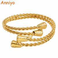 ingrosso colore dell'oro dei monili-Anniyo Gold Colour etiope Bangle per le donne Arab Dubai Bracciale gioielli accessori africani Regali 2018 Nuovo # 100406
