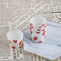 ingrosso dessert di carta case-New Paper Strawberry Paper Cases Liners Muffin Dessert Baking Cup 50 X Cupcake