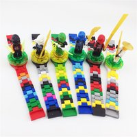 Wholesale electronic gifts for christmas - New Electronic Toy Super Heroes DC Avengers Building Blocks Original Box Watch Ninja Bricks Kids Watch Toys For Christmas Gift 7 9dg YY