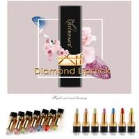 Wholesale changing lipstick resale online - 7colors niceface Brand Diamond Lipstick Magic Temperature Change Color Lip Stick Waterproof Long Lasting Moisturizer Shiny Glitter Lipsticks