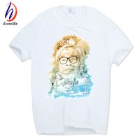 Wholesale Anime Miyazaki Hayao - 2017 Print Miyazaki Hayao T-shirt O-Neck Short Sleeves Summer Casual Fashion Spirited Away Totoro Anime T Shirt HCP750