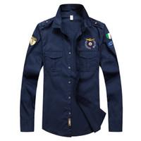 militärische kleidung mann großhandel-Neue Designer Top Qualität Stickerei Männer 's Marke Kleidung Männer Shirts Marke Polo Homme Diamant Mode Aeronautica Military Kleidung