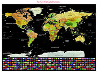 Wholesale Cm Landscaping - The latest scratch map Deluxe Travel Edition Scratch Off World Map Poster Personalized black Map 59.5x82.5 cm