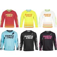 camisetas de manga larga mx al por mayor-Mejor oferta 2018 Mountain Downhill Bike Jersey de ciclismo de manga larga DH MX RBX MTB Racing Ropa Off-road Jersey de Motocross Maillot Ciclismo