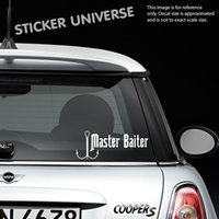 Wholesale die stickers - Car styling for MASTER BAITER Funny Vinyl Die Cut Decal Sticker | Fishing Hunting Truck Sport