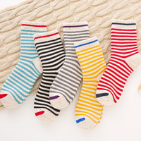 Wholesale black sock yarn - [COSPLACOOL]Striped Some Yarn Happy Socks Women Japan Warm Socks Harajuku Casual Terry Meias Unisex In The Tube Calcetines Mujer