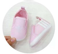 moccasin rahat ayakkabı bebeği toptan satış-Yeni Varış Bebek Spor İlk Walker Ayakkabı Yenidoğan Rahat Ayakkabılar kaymaz Bebek Yürüyor Prewalker Moccasins Sneakers