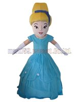 princesa de mascote adulto venda por atacado-Blue skirt girl mascot costume Frete grátis tamanho adulto, princesa luxuoso festa de carnaval de brinquedo de pelúcia celebra vendas de fábrica de mascote.