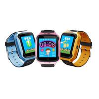 baby watch gps оптовых-M05 Smart Watch для детей Дети GPS часы для Apple для Android телефон Smart Baby Watch Электроника два цвета dhl