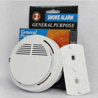 Wholesale smoke detector for sale - Wireless Smoke Detectors Safety Alarms System High Sensitivity Stable Alarm Sensor Monitor Home Security Fire Detector