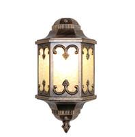 lámpara de pared led natural al por mayor-Regron Courtyard Natural Metalizado Aplique de pared para exterior Lámpara de pared luces de porche de aluminio Impermeable Aplique de pared Pasillo de jardín luz de pasillo