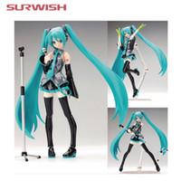 figuras de brinquedo miku venda por atacado-Figuras de Ação Hatsune Surwish 15 cm Móvel Figura de Ação Anime Hatsune Miku Modelo Toy Boneca Toy-Azul