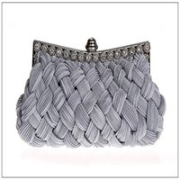red striped bow 2018 - Evening Bags Elegant Tassel Silk Knitting Envepole Clutch Purse for Women Banquet Dinner Party Wallet Lady Evening Cellphone Bag
