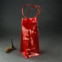 ingrosso trasparenti borse da trasporto-Pratico portatile Hang Bag per vino rosso per club Keep Cooler Mini PVC trasparente per sacchetti Design robusto Easy Carry Drinking Reticule 3 2yy ZZ