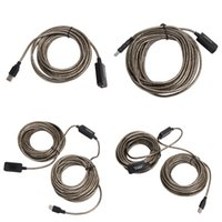 usb macho extensões femininas venda por atacado-SuperSpeed Cabo de Extensão USB 2.0 5 M / 10 M / 15 M / 20 M Repetidor Macho para Fêmea M / F Embutido IC Dual Blindagem de Alta Qualidade