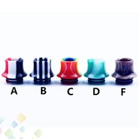 Wholesale vape dripper tanks for sale - Group buy Stripes Epoxy Resin Drip tips Wide Bore Dripper tip Mouthpiece for Vape TFV8 TFV12 Beast Prince Tank DHL Free