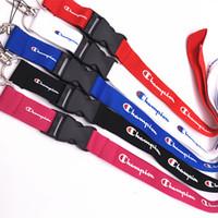 cuerdas de seguridad llavero al por mayor-Campeón llavero Cordón para llaves Titulares de distintivos Campeones Correas de teléfono móvil para iPhone sumsung Diseño de moda