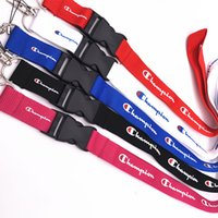 ingrosso porta portachiavi per le corde-Champion keychain Cordino per chiavi Badge Holders Champions Cinghie per cellulare per iphone sumsung Fashion design