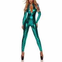 clubwear teddy dessous großhandel-XL Plus Size Lingerie Sexy Hot Erotic Kleidung Shiny Fischschuppen Teddy Babydoll Pole Dance Clubwear Frauen Sex Unterwäsche Kostüme Y18102206