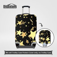 Wholesale road stars - Travel On Road Luggage Protective Covers For Women Gold Stars Printing Elastic Dust Rain Suitcase Cover For 18-30Inch Trolley Case Wholesale