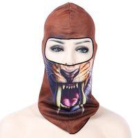 motif cycliste achat en gros de-Masque intégral 3D Animal Cap Cap Coiffure Chapeau pour le sport en plein air Cyclisme Ski Snowboard Anti-poussière et coupe-vent