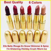 Wholesale Icing Kits - New Makeup Holiday Crush Lipstick HOLIDAY 6 Color bullet head Matte Lipsticks Shimmer lipstick Warm Ice long lasting M lip kit Cosmetics