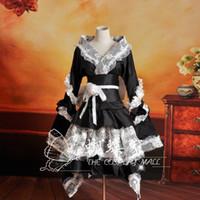 belle kostüm kadınlar toptan satış-Kadınlar için cadılar bayramı kostümleri yetişkin güney belle kostüm Victoria elbise Balo Gotik lolita elbise artı boyutu özel