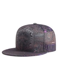 hip hop punk şapkaları toptan satış-Totem Baskı Kapaklar-Erkekler Kadınlar Çift Hip Hop Kap Bahar Yaz Sonbahar Yüksek Kalite Polyester Malzeme Punk Snapbacks