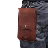 мешок для клипсы оптовых-Для большинства телефон универсальный телефон случае хип зажим для ремня крышка двойной мешок кредитной карты сумка кобура флип искусственная кожа талии кошелек 6.3