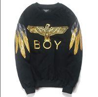 Wholesale London Sweatshirt - Free shipping hot sale hoodies eagle wings printed hiphop hoodie BOY LONDON Hoodies Sweatshirts flame eagle hoodies
