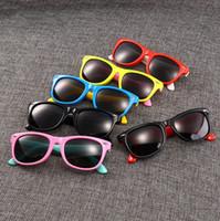Wholesale toddler boy fitted resale online - baby Girls boys fashion anti UV400 Eyeglasses toddler baby sunglasses fit baby kids children