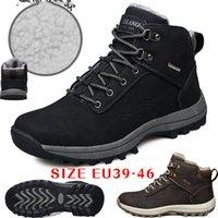 botas marrones para el invierno al por mayor-2018 mens botas de tobillo premium trabajo al aire libre zapatos de senderismo botas de nieve para hombres al aire libre WorkSafet Brown negro EU39-46
