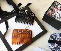 Wholesale christmas hair accessory - 2018 new European and American adult wild elegant rhinestone twist clip letter hair comb hair accessories hair clip spring clip ponytail cli