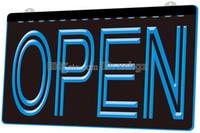 ingrosso pub segni aperti-[F004] OPEN Pernottamento Negozio Bar Pub Club NOVITÀ 3D Incisione LED Light Sign Personalizza su richiesta 8 colori