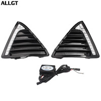 Wholesale drl led ford - ALLGT Car DRL LED Driving Daytime Fog Lamp Day Light For Ford Focus 2011 2012 2013 2014