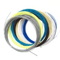 amarração de badminton venda por atacado-Corda do Badminton Multi Color Alta Elastic 10 Metros Longos Raquete Linha Corda Robusto Barato Strings Para Sporters Formação Venda Quente 1 8 bt Z