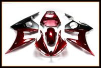 Wholesale motorcycle plastic yamaha r6 - Gloss Red Black Fairing ForYamaha YZF-600 R6 2003 - 2005 Motorcycle Bodywork High Quallity YZF-600 R6 03 04 05 Hulls Plastic Motorbike Cover