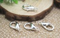 kordon için kancalar toptan satış-15 adet / grup Istakoz Klipsler, Antik Tibet gümüş Ton Istakoz Hooks, Istakoz Döner Klipsler, İpi Kanca 12X23mm