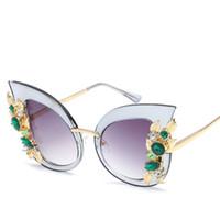 çiçekli güneş gözlüğü toptan satış-Tasarımcı Güneş kadınlar KAPLAMA SUNGLASSES Erkekler Retro güneş gözlükleri Duvarcılık dantel gözlük Inci çanta ile çiçek çanta