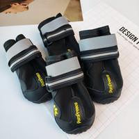 mascotas al aire libre zapatos para perros al por mayor-4pcs a prueba de agua antideslizante zapatos desgaste de la ventilación resistente a la lluvia del zapato Moda mascotas suministros para perros grandes al aire libre deporte bota Protect 37ss jj