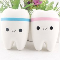Wholesale Tooth Doll - New Simulation Tooth Model Soft Cartoon Doll Squeeze Squishy Slow Rebound Rising Decompression Pressure Relief Gift Kids Toy