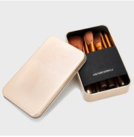 Wholesale wholesale wood box gift sets for sale - Hot makeup brushes Pieces makeup brush sett Kit Iron box ePacket GIFt