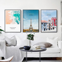 Wholesale paris canvas wall art - Modern Canvas Paintings Princess Wall Art Nordic Style Tower Of Paris Posters Prints HD Pictures For Kids Room Home Decoration
