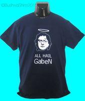 Wholesale valve steams resale online - New Gaben Internet Meme Gamer Inspired T Shirt Top Mens Steam Funny Valve Funny Tops Tee New Unisex Funny Tops